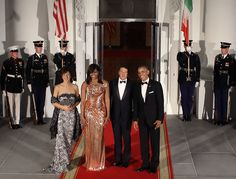 Michelle Obama Wears the Most Stunning Versace Gown For Her Last State Dinner