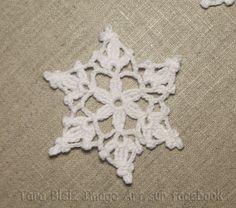 Flocon de neige au crochet - grand flocon de neige au crochet- étoile de Noël au crochet - dentelle blanche au crochet - décoration de Noël : Accessoires de maison par tara-bleiz