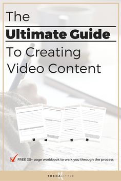 FREE 30+ page workbook with checklists and worksheets teaching you everything you need to know to get started creating video content for your business!  Click here to download now!