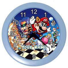 Personalized+Your+Name+Super+Mario+Bros+Room+Wall+Clock+by+KusCase,+$16.55