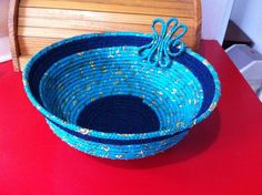 Free Fabric Bowl Patterns | Coils bowls with embellishment by Sarah B... | Sewing Ideas