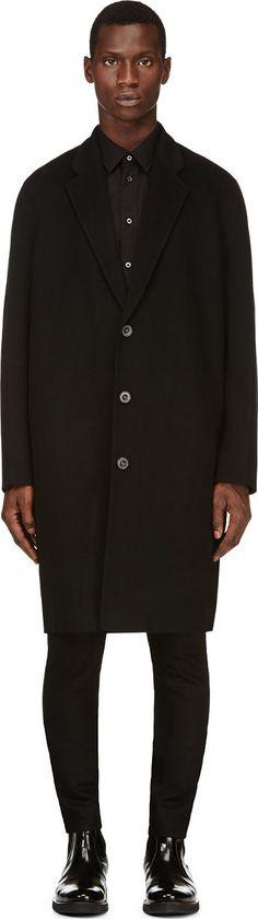 Acne Studios - Black Wool Charles Coat | SSENSE $1,100.00