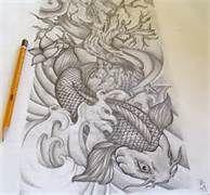 Koi Half Sleeve Tattoo Drawing - Bing Images