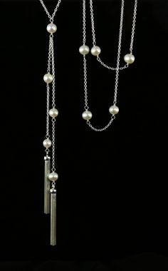 Pearl Tassel Necklace - Biba Design Jewelry