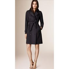 Burberry The Westminster - Long Heritage Trench Coat ($2,225) ❤ liked on Polyvore featuring outerwear, coats, long coat, trench coat, long trench coat, pink trench coat and weatherproof coats