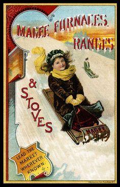 Happy girl on the sledge / B.