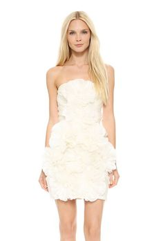 Embellished Lace Mini Dress by Marchesa | Brides.com