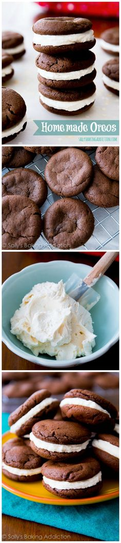 The BEST Homemade Oreos Recipe – dare I say… better than the original! The BEST Homemade Oreos Recipe – dare I say… better than the original! Baking Recipes, Cookie Recipes, Dessert Recipes, Recipes Dinner, Pasta Recipes, Crockpot Recipes, Soup Recipes, Breakfast Recipes, Vegetarian Recipes