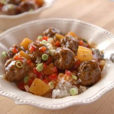 Sweet and Sour Meatballs By Ree Drummond
