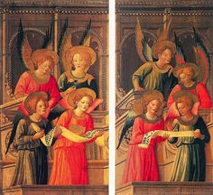 Francesco di Antonio di Bartolomeo - Angeli osannanti - 1429 - Accademia delle Arti del Disegno, Firenze