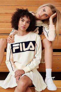 FILA + UO Colorblock Sweatshirt - Urban Outfitters