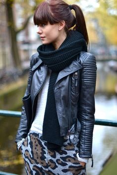 Zara Leather Jacket ♥ I usually don't seem to enjoy all higher end designers but this design with this jacket is absolutely irresistible
