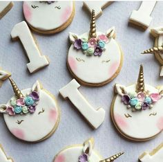 I Unicorn Cupcakes, 1st Birthday Parties, Sugar, Cookies, Party, Desserts, Drink, Food, Crack Crackers