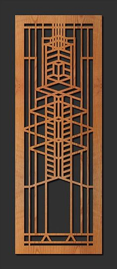 Frank Lloyd Wright Small Robie House A Window Wood Panel