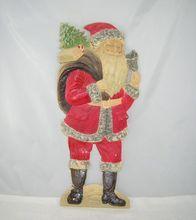 Vintage Santa Claus Die Cut Embossed Cardboard 19 Inches Tall Germany