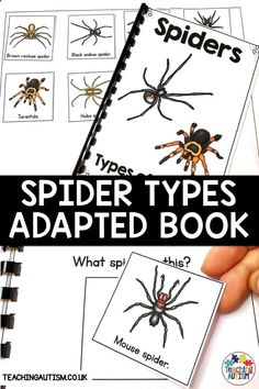 Do Your Students Love To Use Adapted Books? Is it true that you are Looking For Fun Spider Activities To Add To Your Spider Or Halloween Theme? Provided that this is true, This Types Of Spider Adapted Book Is Perfect. Autism Teaching, Autism Classroom, Special Education Classroom, Teaching Resources, Classroom Resources, Halloween Activities For Kids, Hands On Activities, Halloween Themes, Fun Activities