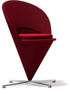 Panton Cone Chair, Red Tonus Wool