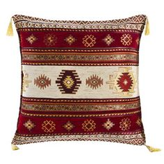 Sedef Chenille Cushion Cover, Burgundy