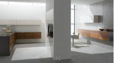 Eggersmann USA Modern Kitchen and Home Living Design Walnut Kitchen, New Kitchen, Interior Architecture, Interior Design, Home And Living, Shelving, Kitchen Design, Kitchens Uk, Modern Kitchens