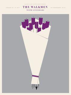 The Walkmen 2012 Concert Poster By Jason Munn