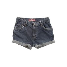 Rokit Recycled Levi's Denim Turn Up Shorts W30 ❤ liked on Polyvore featuring shorts, bottoms, pants, short, micro denim shorts, blue denim shorts, short hot pants, vintage denim shorts and denim hot pants