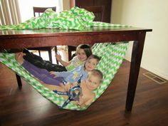 The Not So Original Mommy: Under Table Hammock for Kids :)