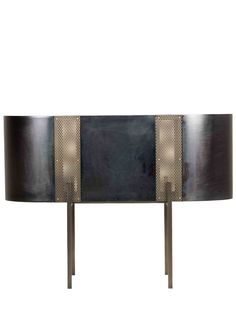 MINGARDO - BE-LIEVE IRON & BRASS CONSOLE TABLE - GREY/GOLD