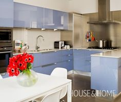 Contemporary Palette: Colourful Kitchens | House & Home