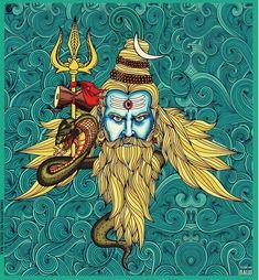 Aghori Shiva, Rudra Shiva, Mahakal Shiva, Shiva Art, Hindu Art, Krishna, Shiva Statue, Hanuman Tattoo, Shiva Tattoo Design