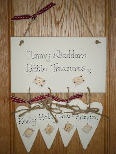 Personalised Granny/Nanny & Grandad Shabby Chic Wooden Plaque Signhabby Chic Wooden Plaque Sign | wowthankyou.co.uk