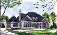 Traditional House Plan chp-15368 at COOLhouseplans.com