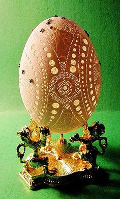 Carved Goose Egg-Curlicue | Carved Goose Egg-Curlicue | Flickr