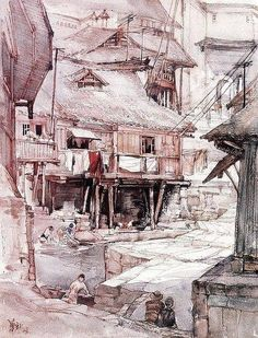 Huayi Yu (China's top female professor of architecture watercolor).