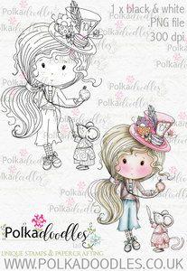 Winnie Wonderland Hello - Printable Digital stamp download