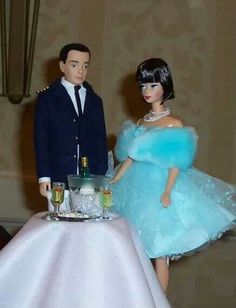 A champagne supper for Barbie and Ken ...