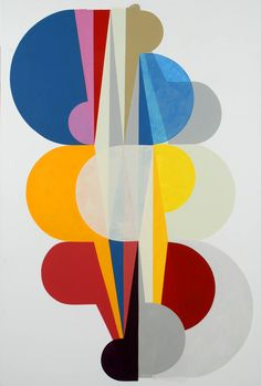 Danish artist Malene Landgreen (b. 1962) works within a nonfigurative picture universe. Color experiments, surface explorations and composition are the main ingredients in Landgreen's work. The volume of her formal arrangements is also taken beyond painting and consists of large scale in situ works, where Malene Landgreen paints on walls, ceilings and installs physical objects.