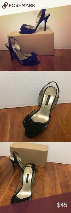 CAPARROS Shoe style: Jinelle                                                                   Color: Black                                                                                Material: Fabric                                                                          Size:7.5 Caparros Shoes Heels