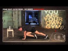 ▶ Bodyweight Exercise - YAYOG DVD Novice Circuit Training - 13 min. (4 min. demo of each of 4 exercises at the beginning. (To start workout, skip to the '9 min. mark.')