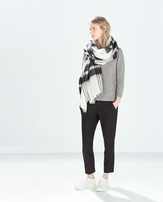 CHECKED SCARF-Scarves-Accessories-WOMAN | ZARA United States