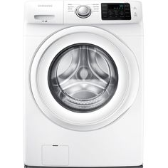 Samsung ft High Efficiency Stackable Front-Load Washer (White) ENERGY STAR at Lowe's. This Samsung front load washing machine helps you save time by fitting more into each load. Its Diamond Drum is gentle on your clothes to help them last Home Depot, Samsung Washer, Samsung 8, Stainless Steel Drum, Stackable Washer And Dryer, Gas Dryer, Clean Technology, Front Load Washer, Cleaning