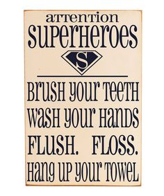 Bathroom sign for the kiddos! This may be exactly what I needed for B's restroom!