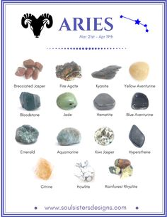 Aries Healing Crystals by Soul Sisters Designs
