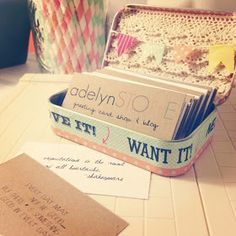 Creative crafts that recycle business card holders business cards altoids tin craft round up business card reheart Images
