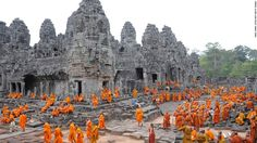 Cambodia is predominantly Buddhist with 90% of the population being Theravada Buddhist, 1% Christian, and others. http://cambodiahotels.info/information/cambodia-religion.html