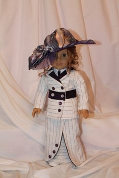 Titanic Rose's Boarding suit for American Girl doll. OOAK by All Dolled Up Doll Clothes