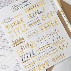 24 Insanely Simple Bullet Journal Header Ideas To Steal! Need some bullet journal header ideas for beginners? This post is FOR YOU! The perfect way to liven up your bullet journal is with a fancy header! Bullet Journal 2019, Bullet Journal Writing, Bullet Journal Inspo, Bullet Journals, Bullet Journal Ideas Handwriting, Bullet Journal Title Fonts, Bullet Journal Ideas How To Start A, Bullet Journal For School, Bullet Journal Banner