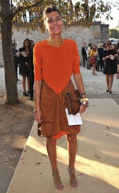 El look de Giovanna Battaglia #estaesmimodacom #ropa#modelitos#combinar#moda#joven