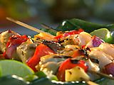 Paula's Home Cooking - Lime Chicken and Shrimp Kabobs