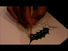 ▶ Porcelain Painting Holly - Part 1 - YouTube