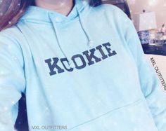 Kookie BTS blue Hoodie (Ladies sizing- NOT unisex)